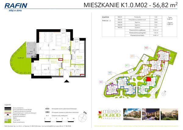 Rzut Miasto Ogród Karłowice - K1.0.M02