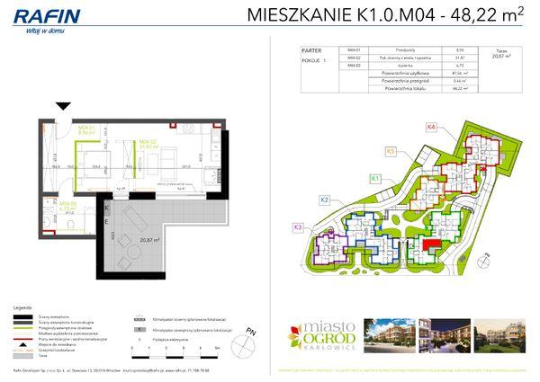 Rzut Miasto Ogród Karłowice - K1.0.M04