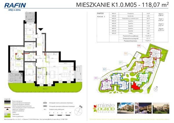Rzut Miasto Ogród Karłowice - K1.0.M05