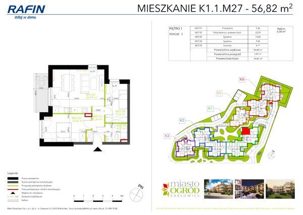 Rzut Miasto Ogród Karłowice - K1.1.M27