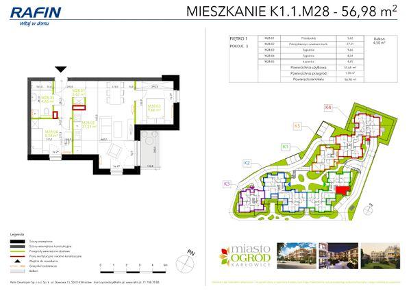 Rzut Miasto Ogród Karłowice - K1.1.M28