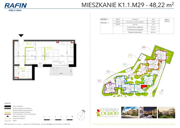 Rzut Miasto Ogród Karłowice - K1.1.M29