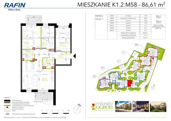 Rzut Miasto Ogród Karłowice - K1.2.M58