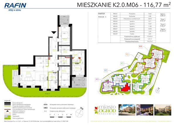 Rzut Miasto Ogród Karłowice - K2.0.M06