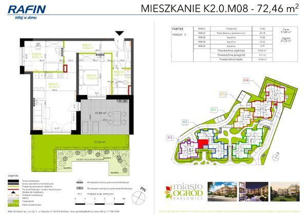 Rzut Miasto Ogród Karłowice - K2.0.M08