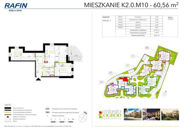 Rzut Miasto Ogród Karłowice - K2.0.M10
