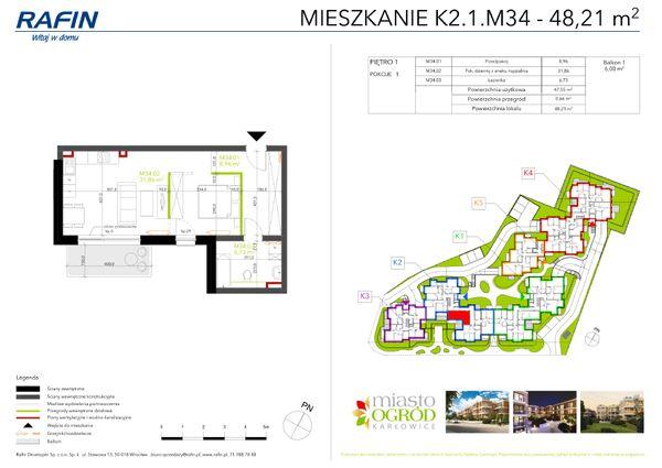 Rzut Miasto Ogród Karłowice - K2.1.M34
