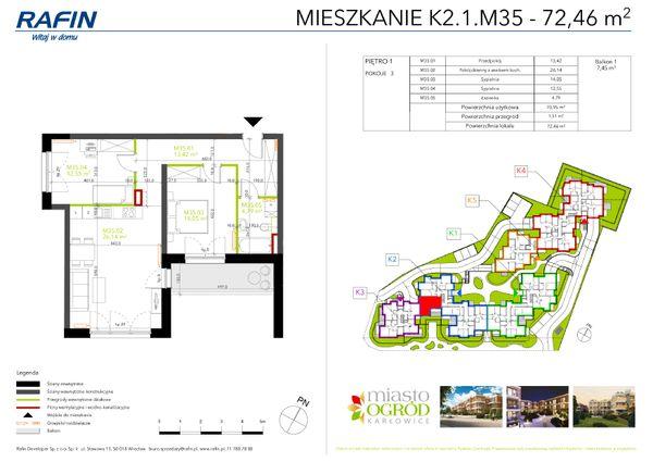 Rzut Miasto Ogród Karłowice - K2.1.M35