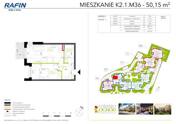 Rzut Miasto Ogród Karłowice - K2.1.M36