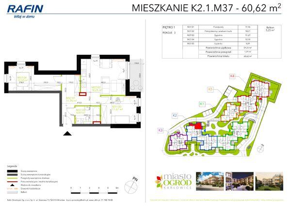 Rzut Miasto Ogród Karłowice - K2.1.M37