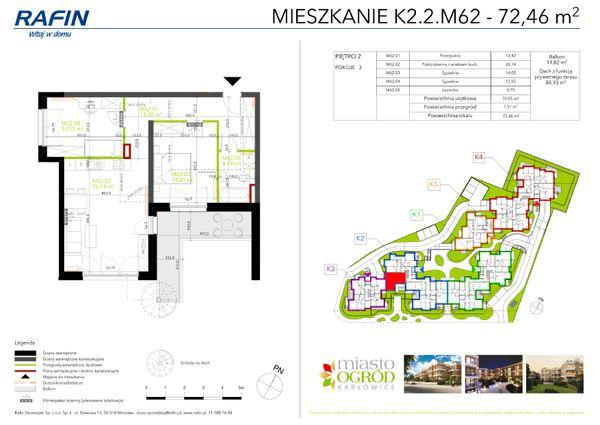 Rzut Miasto Ogród Karłowice - K2.2.M62