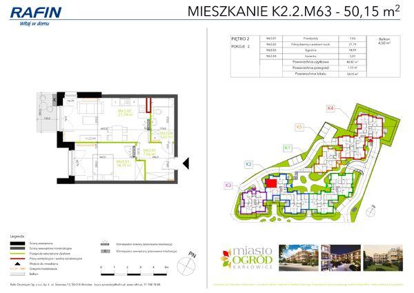 Rzut Miasto Ogród Karłowice - K2.2.M63