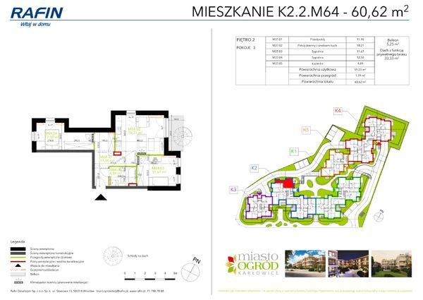 Rzut Miasto Ogród Karłowice - K2.2.M64