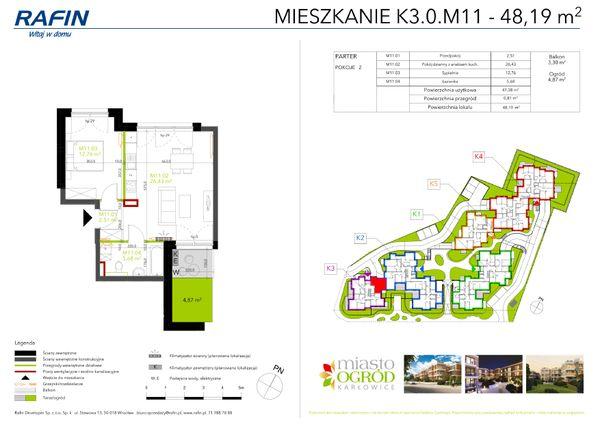 Rzut Miasto Ogród Karłowice - K3.0.M11