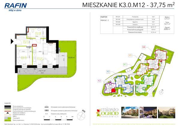 Rzut Miasto Ogród Karłowice - K3.0.M12