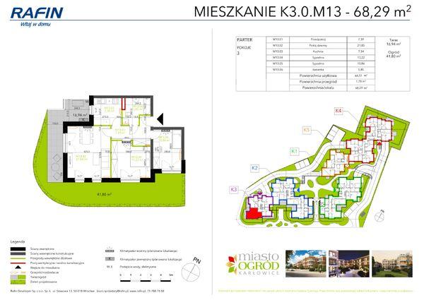 Rzut Miasto Ogród Karłowice - K3.0.M13