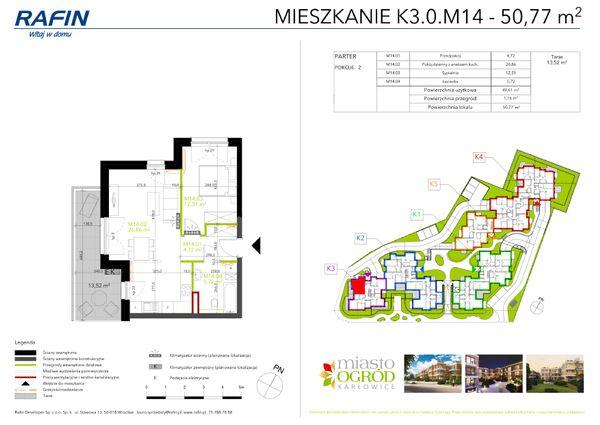 Rzut Miasto Ogród Karłowice - K3.0.M14