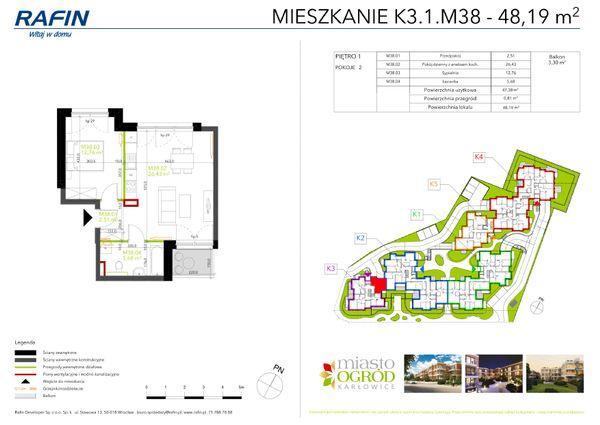 Rzut Miasto Ogród Karłowice - K3.1.M38