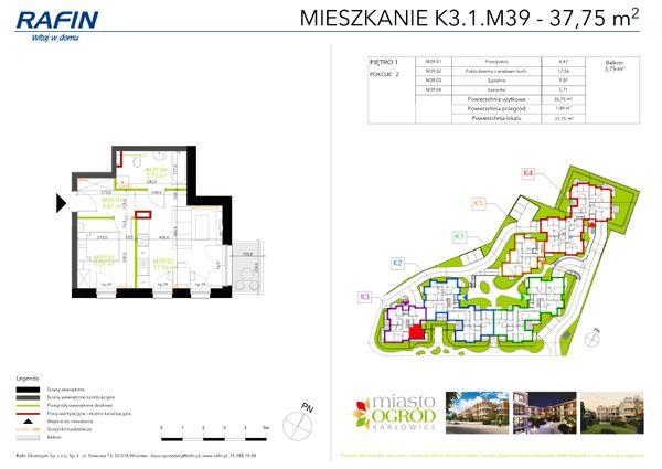 Rzut Miasto Ogród Karłowice - K3.1.M39