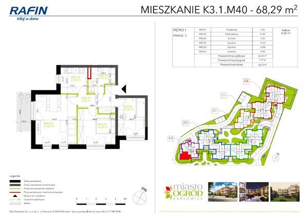Rzut Miasto Ogród Karłowice - K3.1.M40