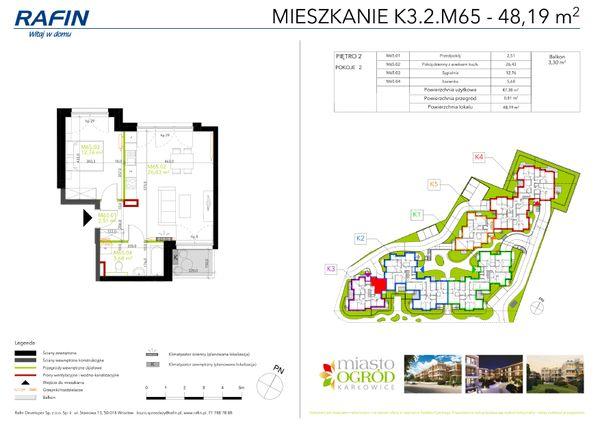 Rzut Miasto Ogród Karłowice - K3.2.M65