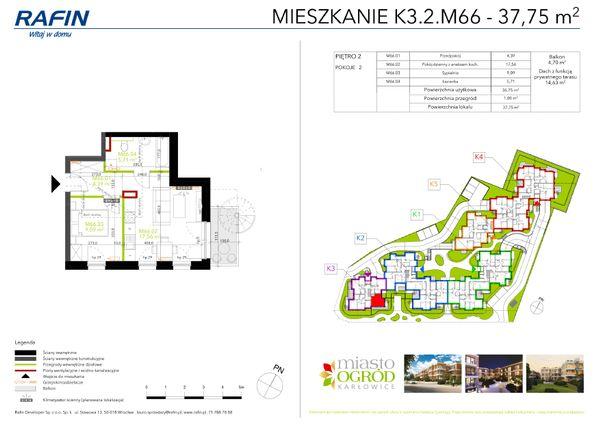 Rzut Miasto Ogród Karłowice - K3.2.M66