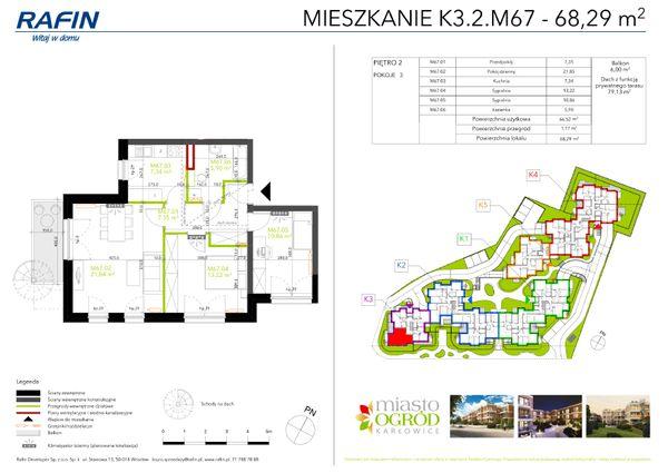 Rzut Miasto Ogród Karłowice - K3.2.M67