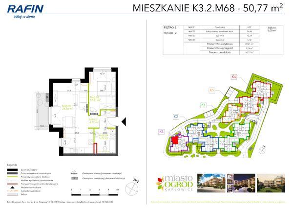Rzut Miasto Ogród Karłowice - K3.2.M68