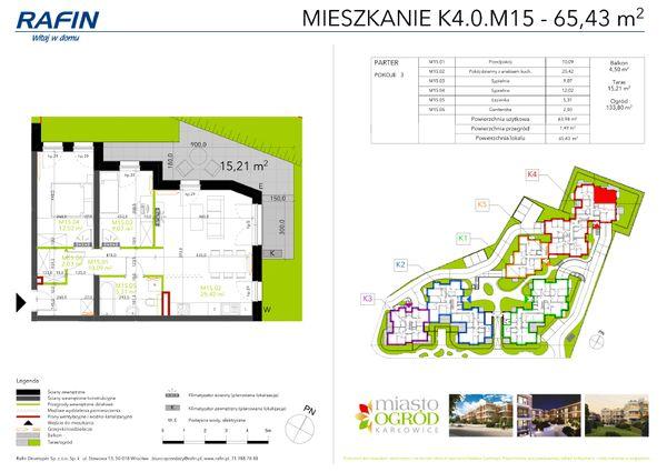 Rzut Miasto Ogród Karłowice - K4.0.M15