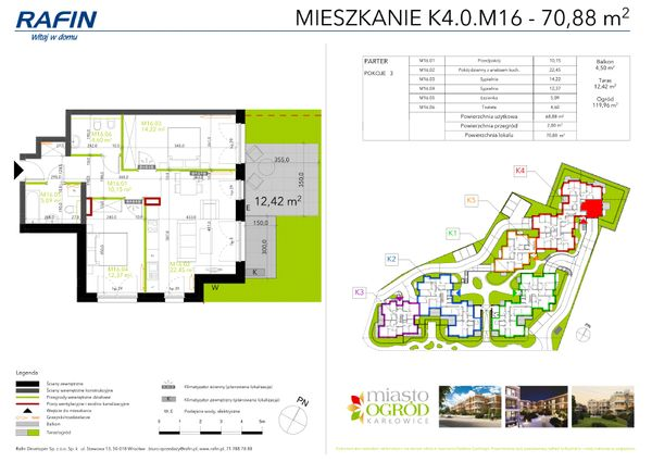 Rzut Miasto Ogród Karłowice - K4.0.M16