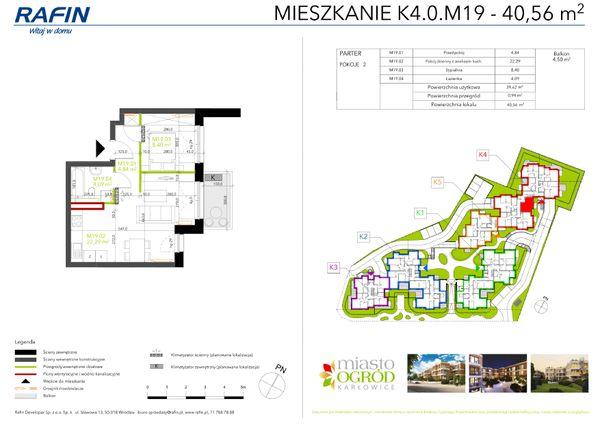 Rzut Miasto Ogród Karłowice - K4.0.M19
