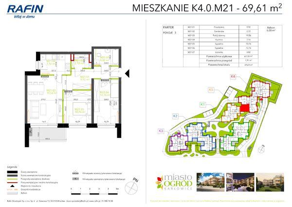 Rzut Miasto Ogród Karłowice - K4.0.M21