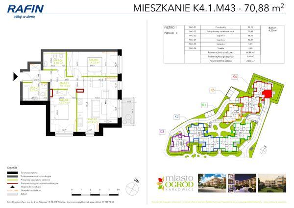 Rzut Miasto Ogród Karłowice - K4.1.M43