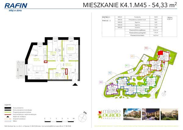 Rzut Miasto Ogród Karłowice - K4.1.M45