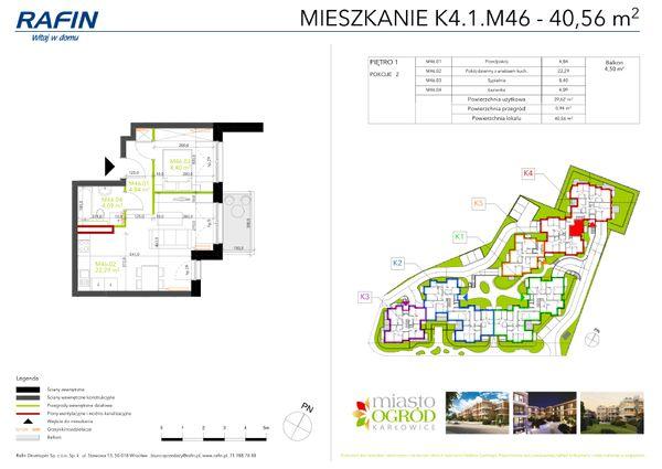 Rzut Miasto Ogród Karłowice - K4.1.M46