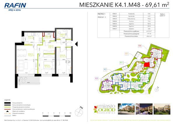 Rzut Miasto Ogród Karłowice - K4.1.M48