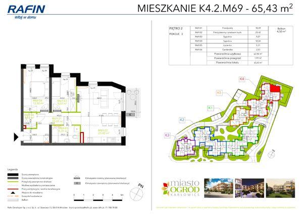 Rzut Miasto Ogród Karłowice - K4.2.M69