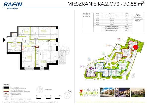 Rzut Miasto Ogród Karłowice - K4.2.M70