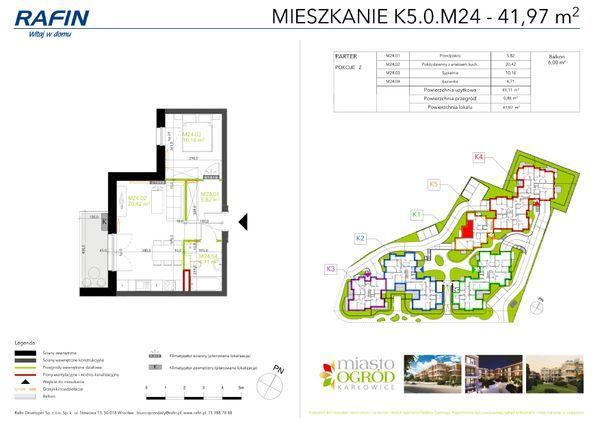 Rzut Miasto Ogród Karłowice - K5.0.M24