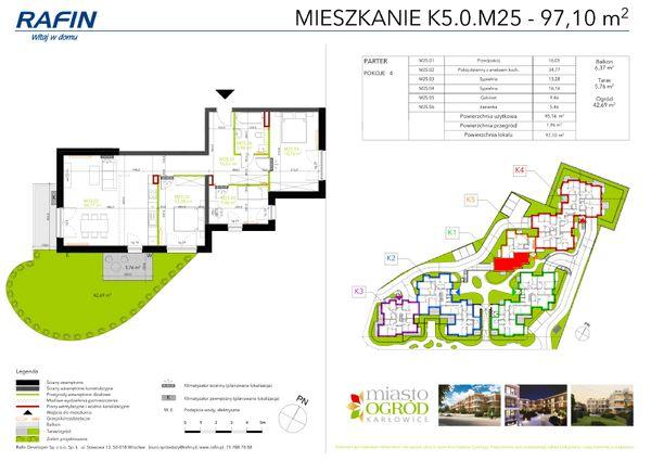 Rzut Miasto Ogród Karłowice - K5.0.M25