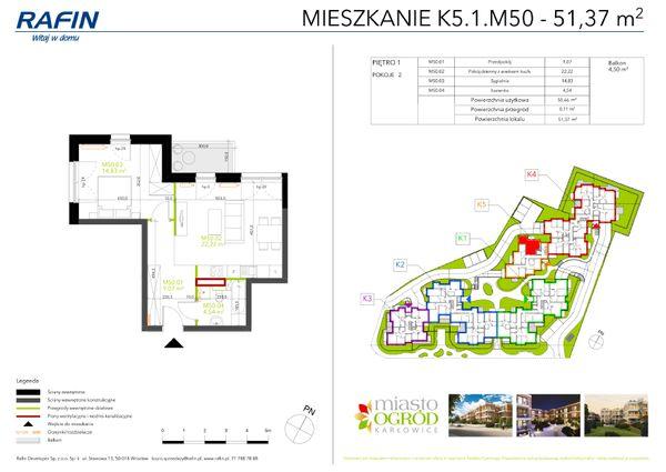 Rzut Miasto Ogród Karłowice - K5.1.M50