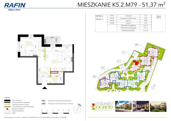 Rzut Miasto Ogród Karłowice - K5.2.M79