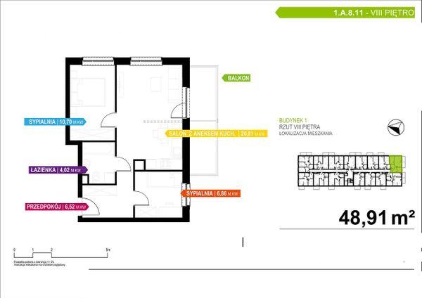 Rzut Apartamenty Piłsudskiego - LODZ_A_P_1_A_8_11