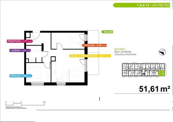 Rzut Apartamenty Piłsudskiego - LODZ_A_P_1_A_8_12
