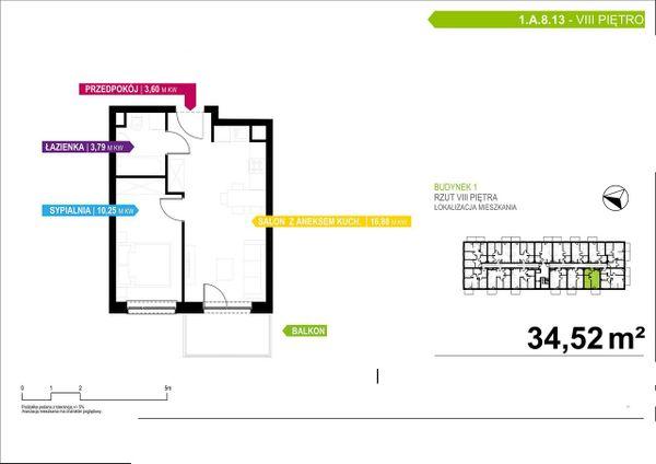 Rzut Apartamenty Piłsudskiego - LODZ_A_P_1_A_8_13