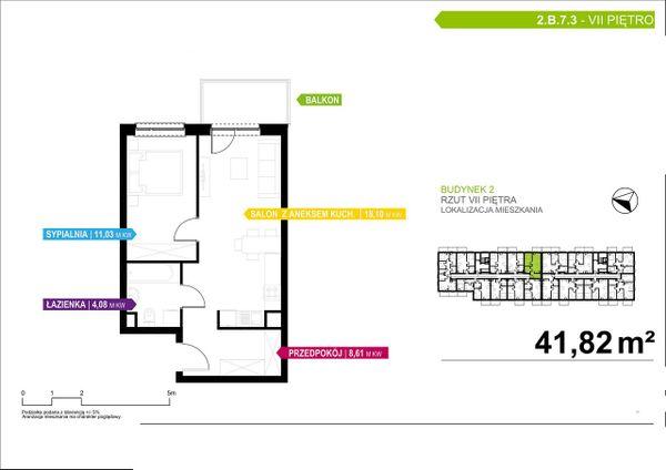 Rzut Apartamenty Piłsudskiego - LODZ_A_P_2_B_7_3