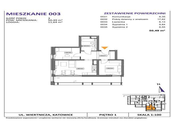Rzut Słoneczne Apartamenty - WIERTNICZA_M003