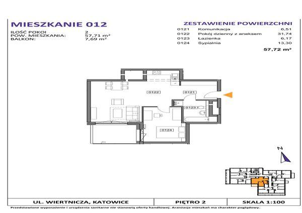Rzut Słoneczne Apartamenty - WIERTNICZA_M012