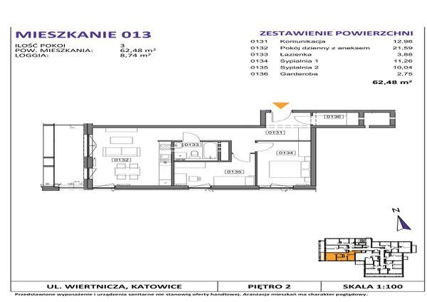 Rzut Słoneczne Apartamenty - WIERTNICZA_M013