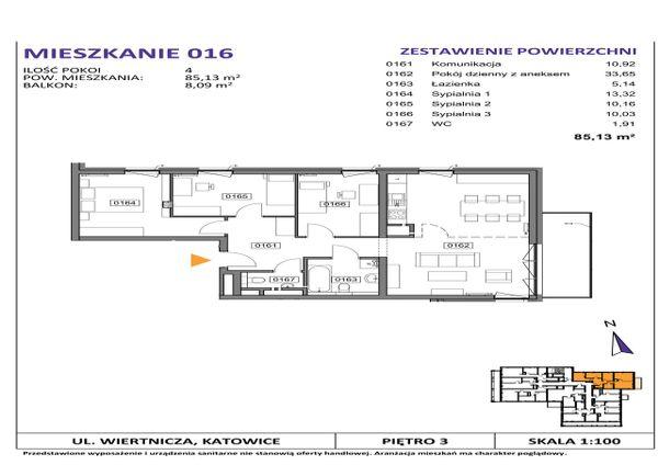 Rzut Słoneczne Apartamenty - WIERTNICZA_M016
